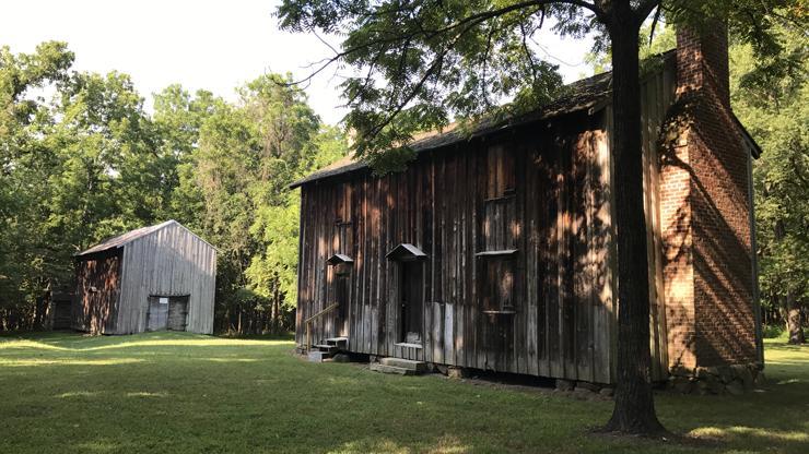 enslaved dwellings at Horton Grove