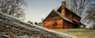 Vance Birthplace with frost
