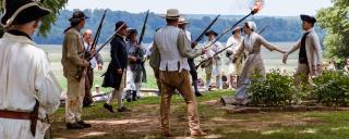 Scene from battle reenactment