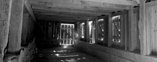 Picture of the interior of the Great Barn at Historic Stagville