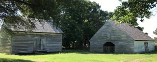 sheep barn at Aycock Birthplace