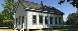 schoolhouse at Aycock Birthplace