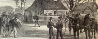 reenactors portraying the surrender