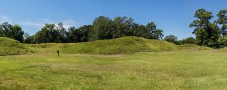 mounds of Fort Anderson
