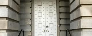 entrance doors of the Capitol