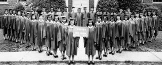 photograph of class of 1943 Palmer Memorial Institute