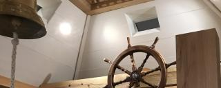 inside the reconstructed casemate exhibit