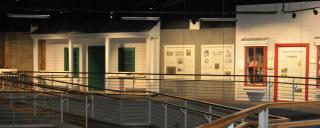 exhibit gallery at the museum
