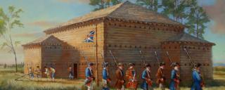 Artist's rendering of Fort Dobbs