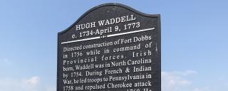 historical marker at Fort Dobbs