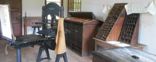 printing press at Historic Halifax