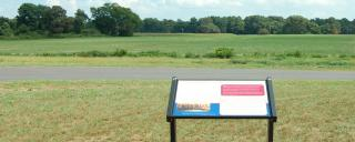 Battlefield with wayside sign