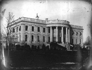 1846 photo by John Plumbe, Jr. of The White House, as it looked when James K. Polk became president.