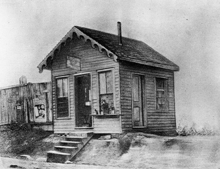 Vance's first law office in Asheville, NC