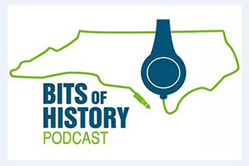 "The logo for the ""Bits of History Podcast."""