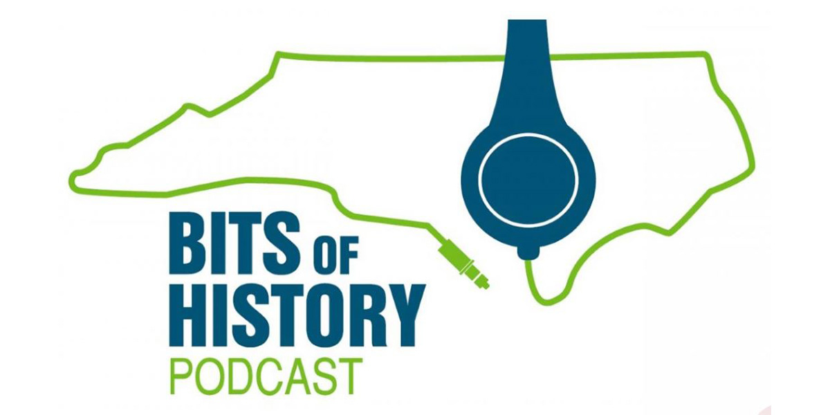 "The logo for the ""Bits of History Podcast"" from the North Carolina Museum of History"