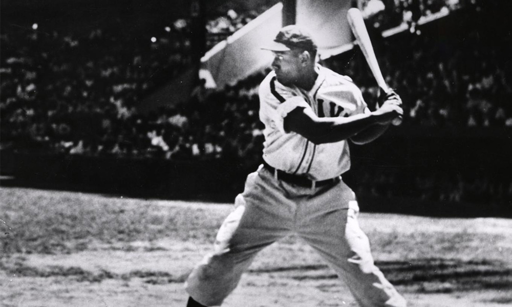 This image shows Buck Leonard, an African American baseball player, who played in the Negro League.