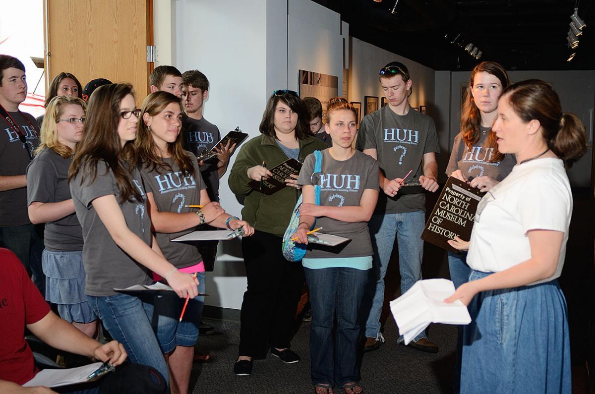 Tar Heel Junior Historians touring the North Carolina Museum of History