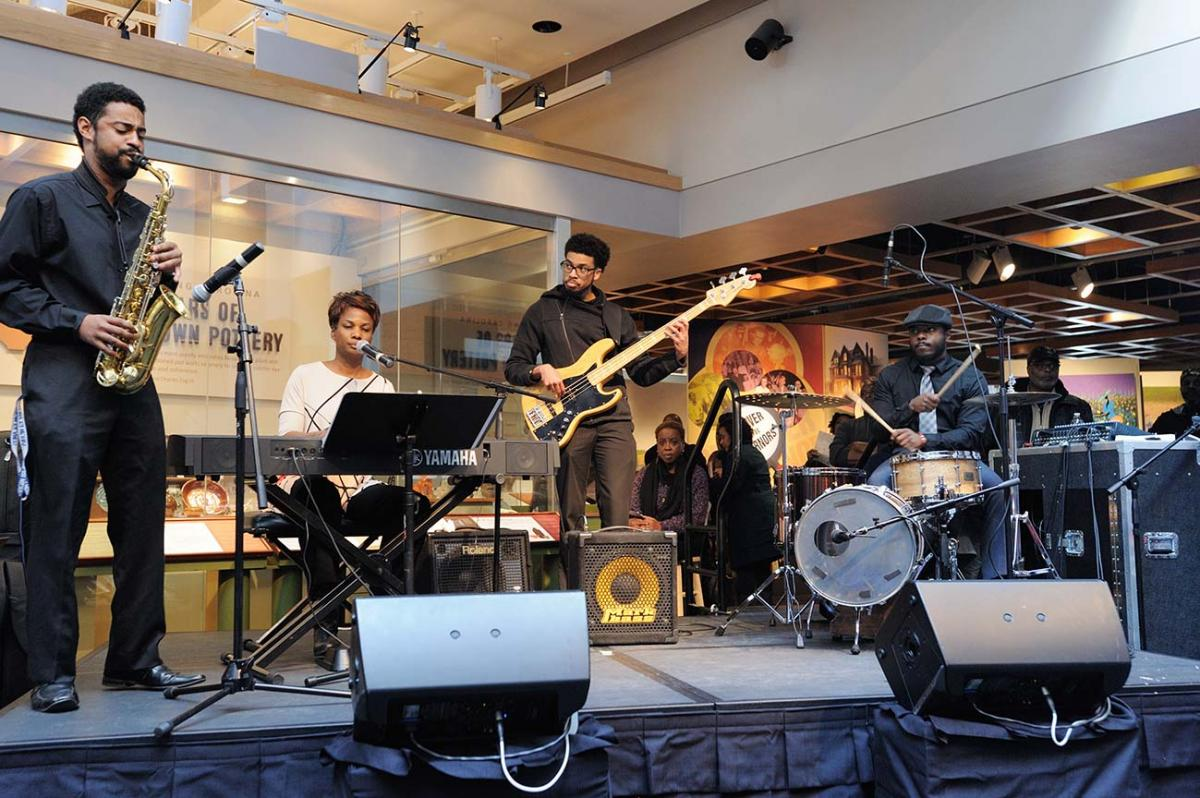 Jazz music, performed at the African American Cultural Celebration at the North Carolina Museum of History