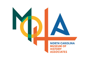 The North Carolina Museum of History's friend group, MOHA's logo