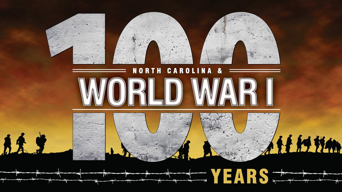 "The logo for our exhibit, ""North Carolina & World War I."""