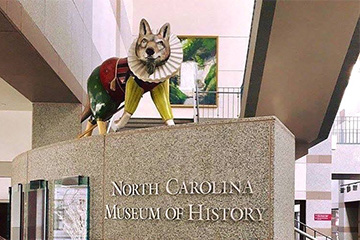 Sir Wolfter Raleigh inside the North Carolina Museum of History