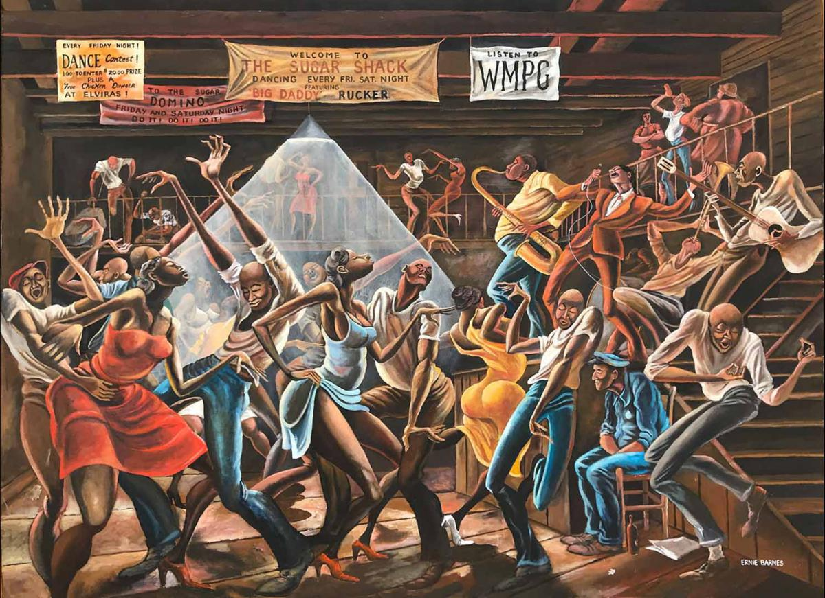 the north carolina roots of artist ernie barnes nc museum of history