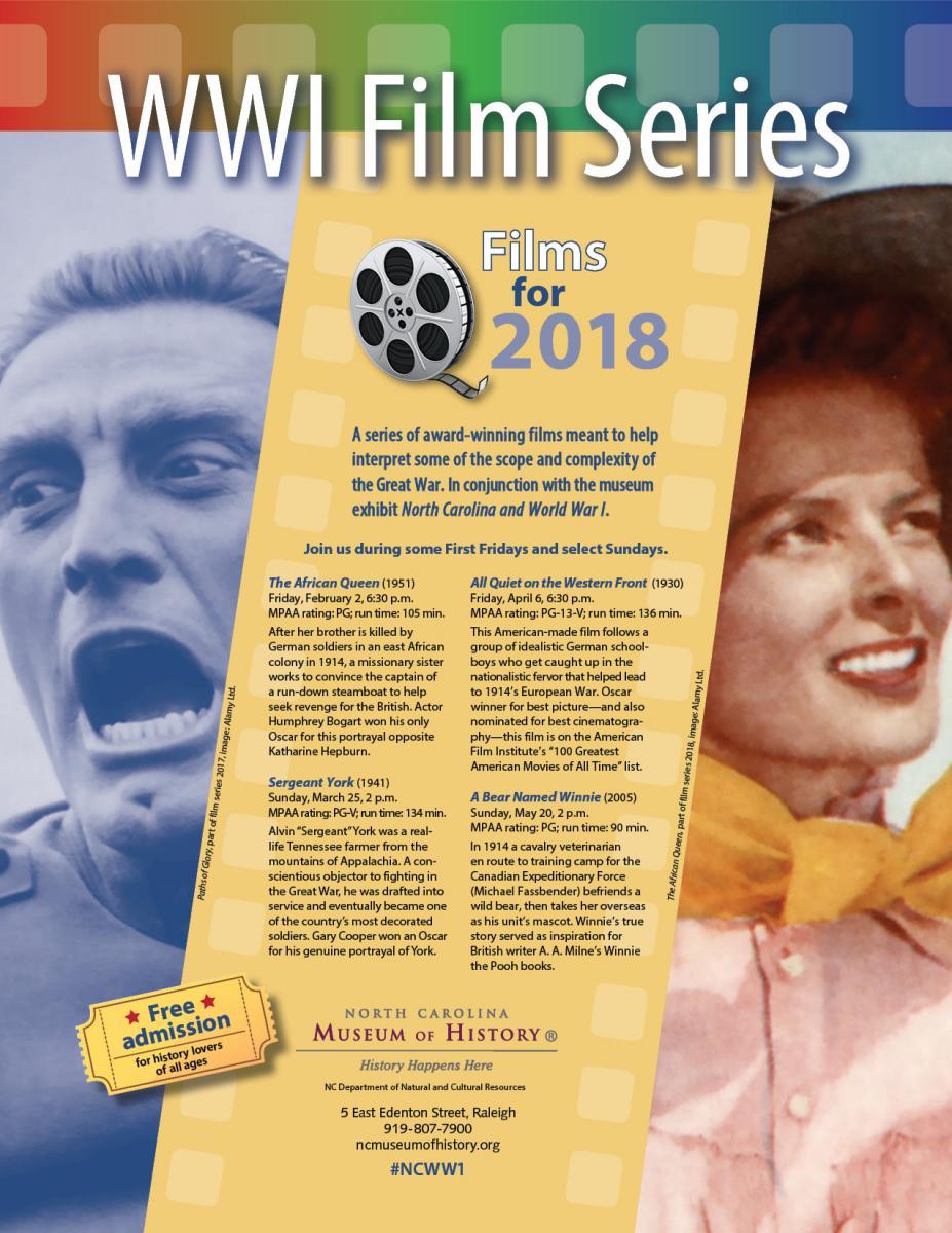 World War I Film Series | NC Museum of History