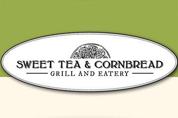 "Logo for ""Sweet Tea and Cornbread,"" the museum restaurant"
