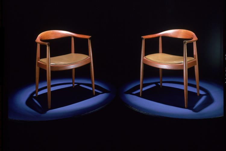 Kennedy-Nixon debate chairs, 1960, National Museum of American History