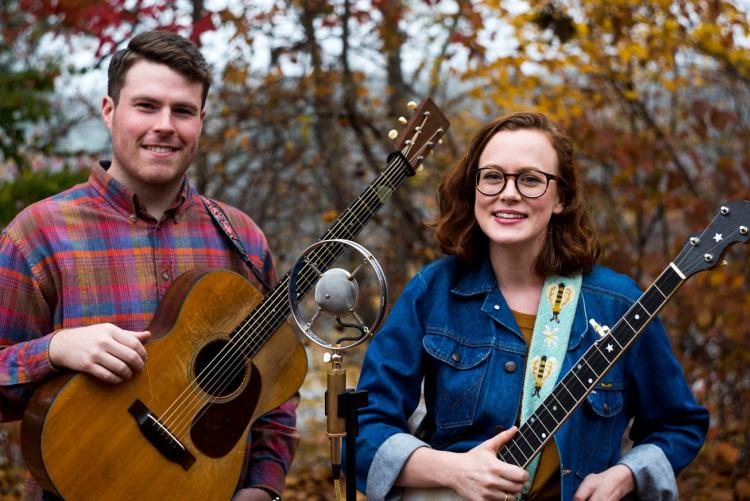 The musical group, Chatham Rabbits, consisting of singers Austin McCombie and Sarah Osborne