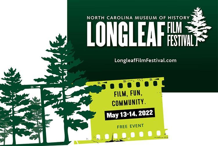 The logo for Longleaf Film Festival 2022