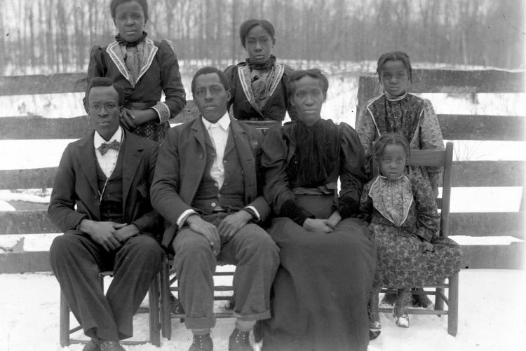 An African American family in the 1860s, from our exhibit,