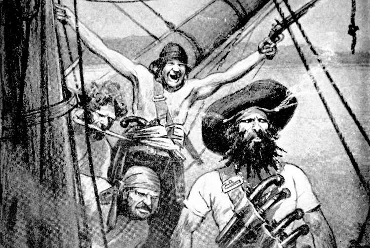 A Likeness of Blackbeard and his Crew