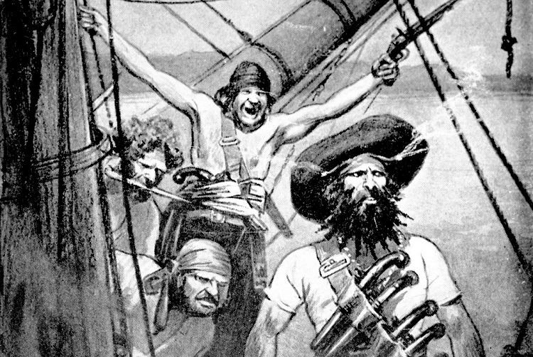 A Likeness of Blackbeard and his Crew