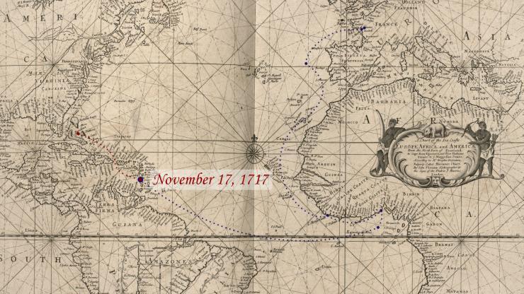 Location of La Concorde on November 17, 1717.