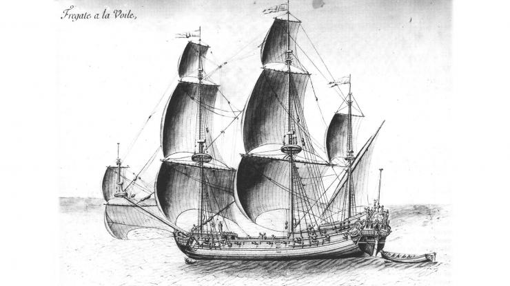 Light Frigate, ca. 1675-1680