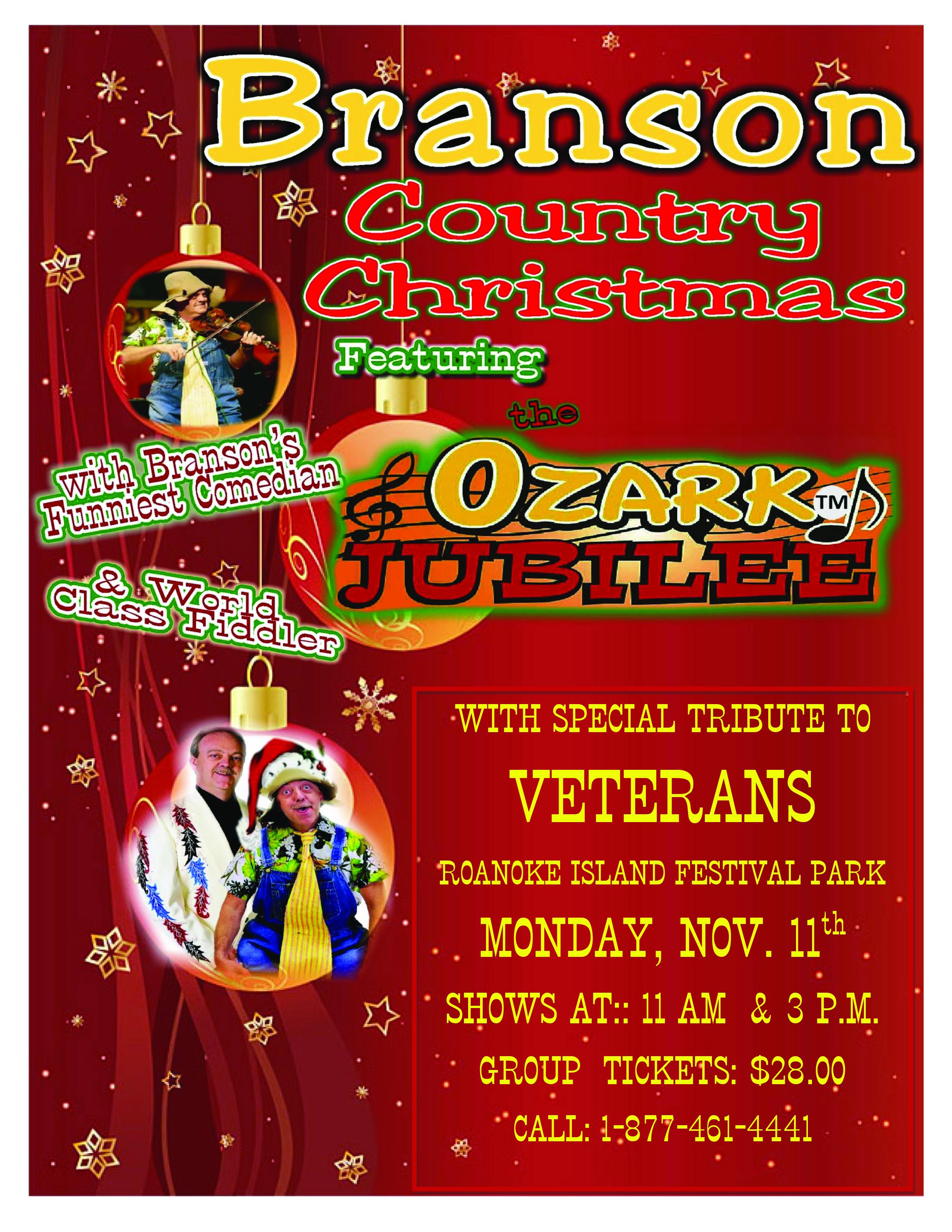Christmas Jubilee 2019 Roanoke Island: Branson Country Christmas and Veterans Show