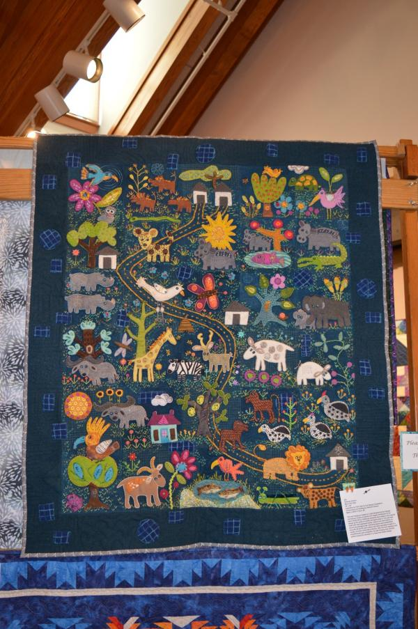 More Folk Tales quilt at the 2020 Outer Banks Community Quilt Show at Roanoke Island Festival Park