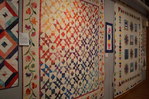Waterford in Bloom quilt at the 2019 Outer Banks Community Quilt Show at Roanoke Island Festival Park