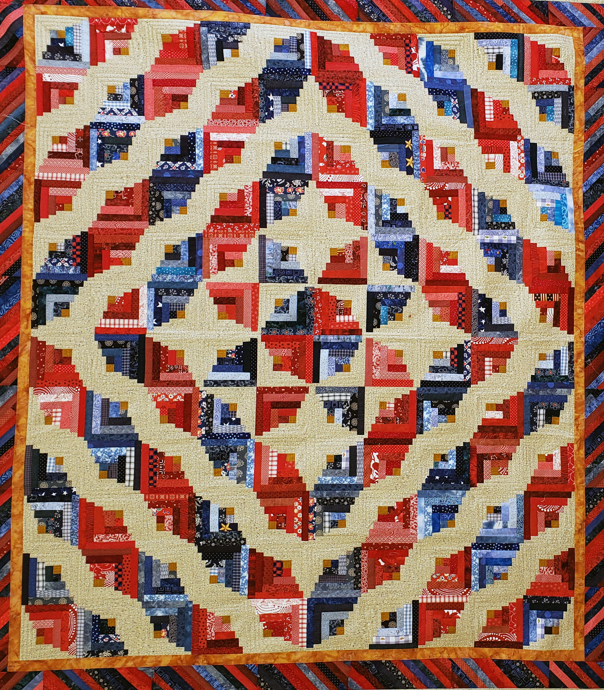 2019 raffle quilt at the 2019 Outer Banks Community Quilt Show at Roanoke Island Festival Park