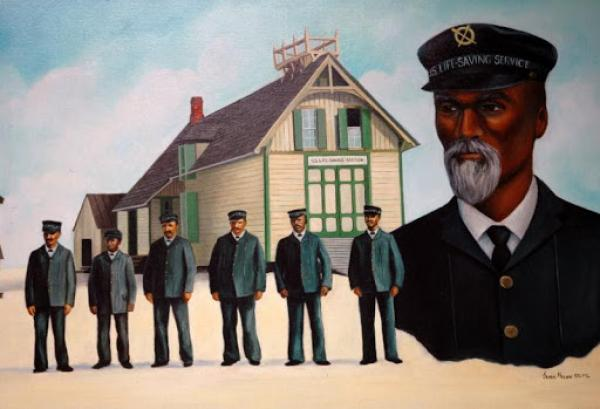 Richard Etheridge and the surfmen at the Pea Island Lifesaving Station