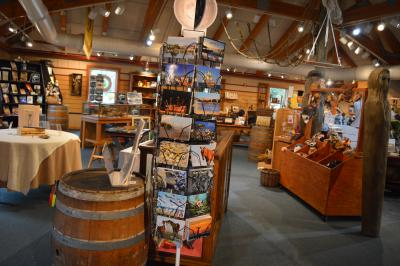 Museum Store layout at Roanoke Island Festival Park