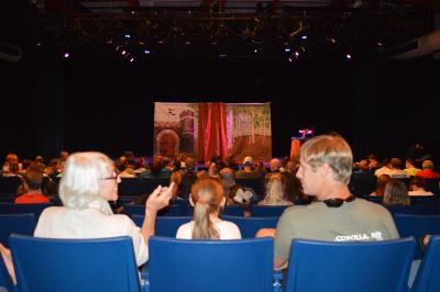 Kids show performance in the indoor theatre at Roanoke Island Festival Park