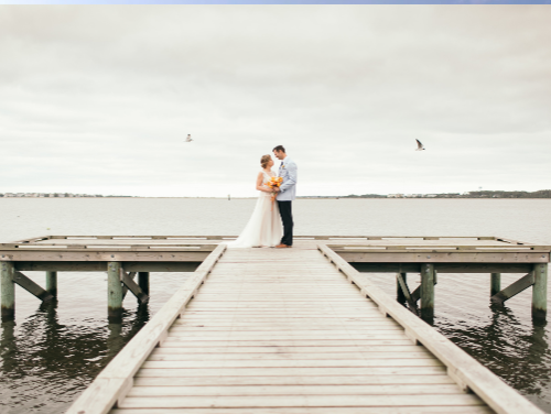 Eubanks wedding at Roanoke Island Festival Park an Outer Banks wedding venue