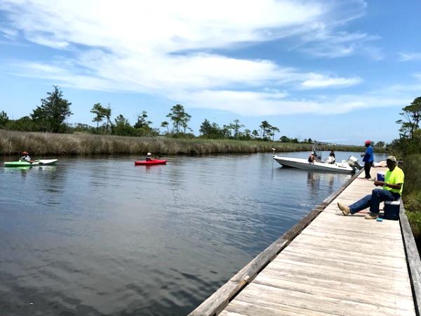 Kayak launch at Roanoke Island Festival Park