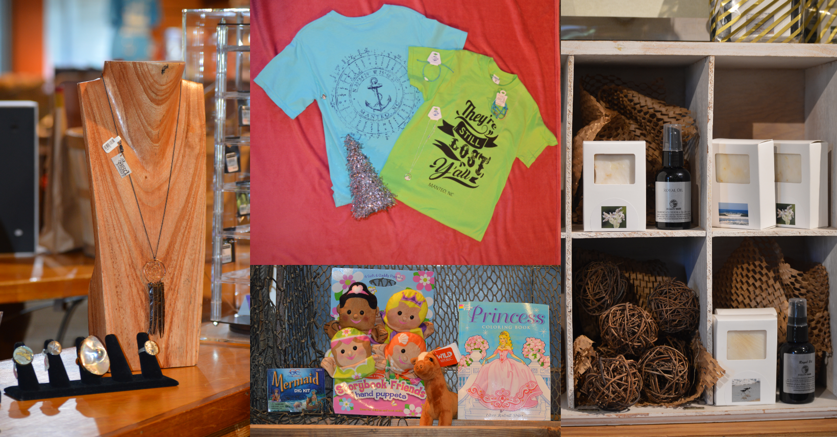 Gifts for women in the Museum Stores at Roanoke Island Festival Park