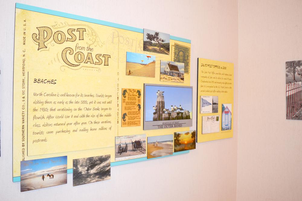 Post from the Coast traveling exhibit at Roanoke Island Festival Park