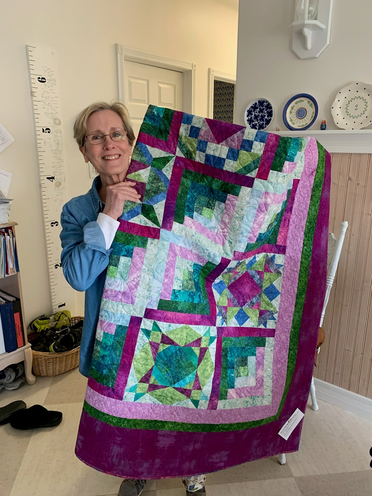 2020 winner of the Outer Banks Community Quilt Show raffle at Roanoke Island Festival Park