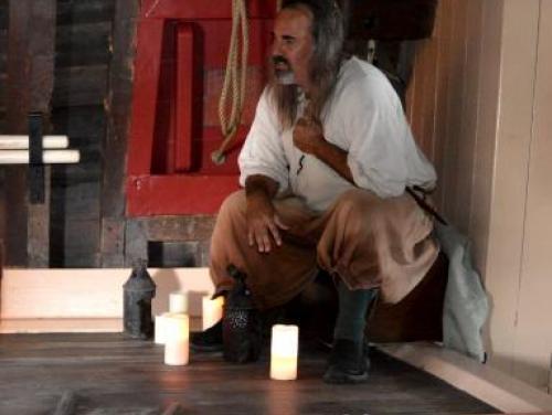 Historic interpreter tells tales below deck on the Elizabeth II at Roanoke Island Festival Park